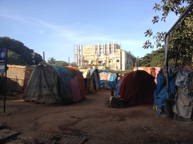 Building and slum